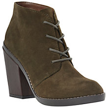 Buy Steve Madden Jayson Stacked Heel Suede Desert Boots, Green Online at johnlewis.com