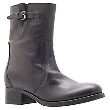 Buy Carvela Simple Biker Style Leather Calf Boots, Black Online at johnlewis.com