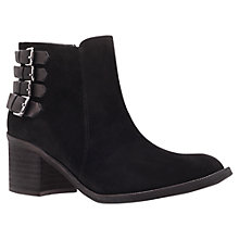 Buy Carvela Spam Suede Ankle Boots, Black Online at johnlewis.com