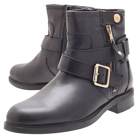 Buy Carvela Saturn Leather Ankle Boots, Black Online at johnlewis.com