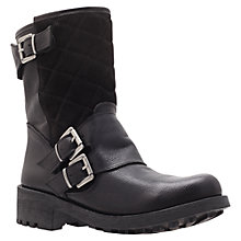 Buy Carvela Skill Leather Biker Boots, Black Online at johnlewis.com
