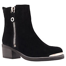Buy Carvela Stephan Suede Metal Trim Ankle Boots, Black Online at johnlewis.com