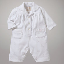 Buy Emile et Rose Caley Bunny Printed Pyjama Sleepsuit with Plush Toy, White Online at johnlewis.com
