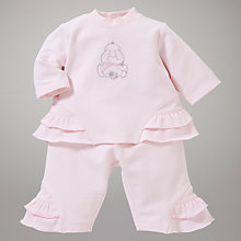Buy Emile et Rose Christa Bunny Top and Trousers Set, Pink Online at johnlewis.com