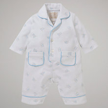 Buy Emile et Rose Cary Teddy Pyjama Suit, White Online at johnlewis.com