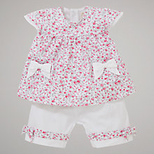 Buy Emile et Rose Clare Top & Short Set with Plush Toy, Pink/White Online at johnlewis.com