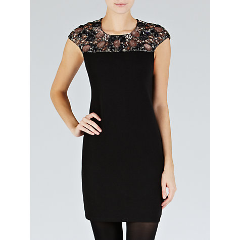 Buy Needle & Thread Glisten Mini Dress, Black Online at johnlewis.com