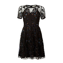 Buy Needle & Thread Tulle Dress, Black Online at johnlewis.com