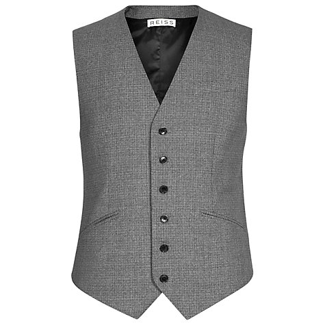 Buy Reiss Barber Textured Puppytooth Waistcoat Online at johnlewis.com