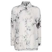 Buy Mango Oriental Print Shirt, Natural White Online at johnlewis.com
