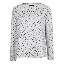Buy Mango Polka Dot Print Jumper, Medium Grey Online at johnlewis.com