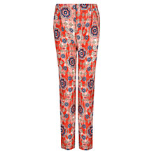 Buy Mango Loose Fit Printed Trousers, Bright Red Online at johnlewis.com
