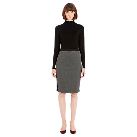 Buy Warehouse Tipped Work Skirt, Dark Grey Online at johnlewis.com