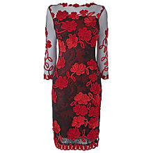 Buy Phase Eight Fifi Tapework Dress, Black/Ruby Online at johnlewis.com