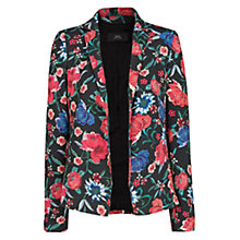 Buy Mango Floral Print Blazer, Black Online at johnlewis.com