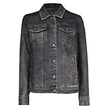 Buy Mango Studded Eagle Denim Jacket, Black Online at johnlewis.com