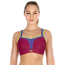 Buy Panache Full Bust Underwired Sports Bra, Raspberry Online at johnlewis.com