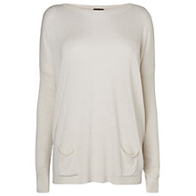 Buy Phase Eight Pat Pocket Jumper, Oatmeal Online at johnlewis.com