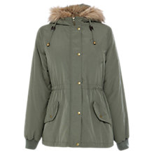 Buy Oasis Sara Casual Parka Coat, Khaki Online at johnlewis.com