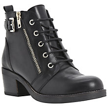 Buy Bertie Perdix Zip and Buckle Ankle Boots, Black Online at johnlewis.com