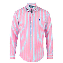 Buy Polo Ralph Lauren Slim-Fit Plaid Sports Shirt, Pink/Royal Online at johnlewis.com