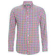 Buy Polo Ralph Lauren Slim-Fit Plaid Sports Shirt, Pink Online at johnlewis.com
