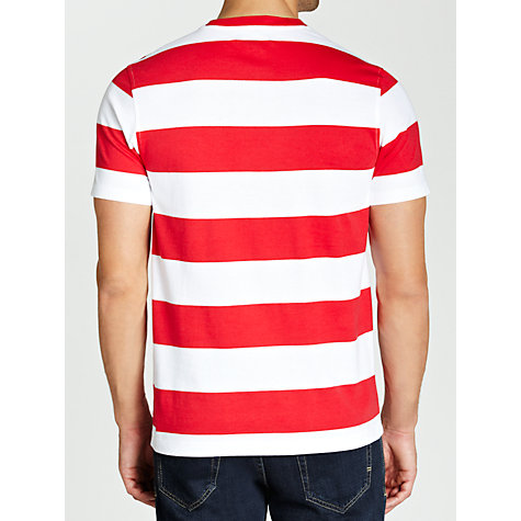 Buy Lyle & Scott Block Stripe Polo T-Shirt, Red Online at johnlewis.com