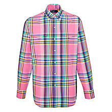 Buy Polo Ralph Lauren Western Check Shirt, Pink/White Online at johnlewis.com
