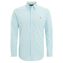 Buy Polo Ralph Lauren Classic Fit Gingham Shirt, Vacation Blue Online at johnlewis.com