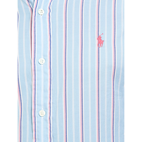 Buy Polo Ralph Lauren Slim-Fit Stripe Shirt, Blue/White Online at johnlewis.com