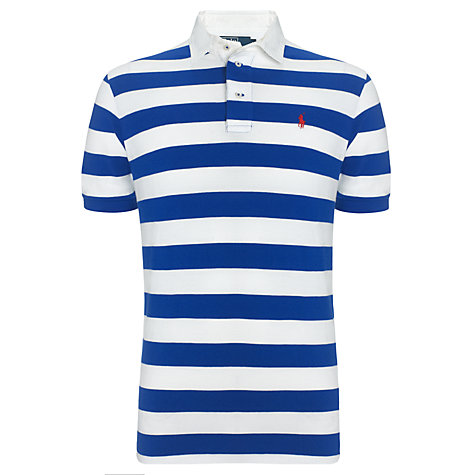 Buy Polo Ralph Lauren Stripe Custom Fit Polo Shirt Online at johnlewis.com