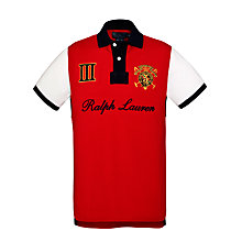 Buy Polo Ralph Lauren Crested Polo Top, Red Online at johnlewis.com
