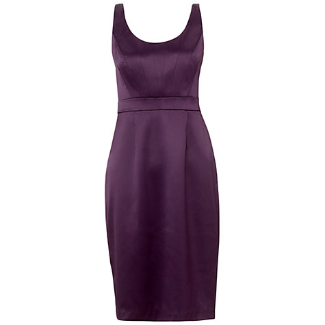 Buy Adrianna Papell Corset Body Dress. Aubergine Online at johnlewis.com