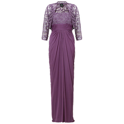 Buy Adrianna Papell Lace Stretch Dress, Violet Online at johnlewis.com