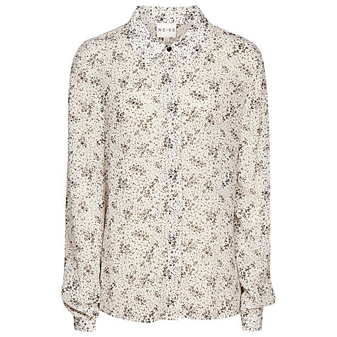 Buy Reiss Day Printed Shirt, Cream Online at johnlewis.com