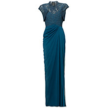 Buy Adrianna Papell Lace Stretch Dress, Hunter Online at johnlewis.com
