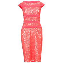 Buy Adrianna Papell Lace Sheath Dress, Pink Online at johnlewis.com