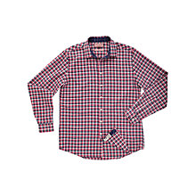 Buy Thomas Pink Dudley Check Long Sleeve Shirt, Red/Navy Online at johnlewis.com