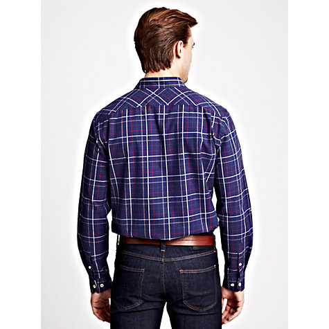 Buy Thomas Pink Shears Check Long Sleeve Shirt, Navy/Red Online at johnlewis.com