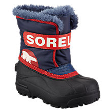 Buy Sorel Snow Commander Snow Boots, Navy/Multi Online at johnlewis.com