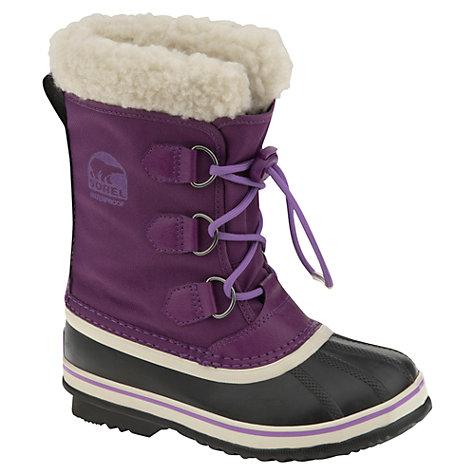 buy sorel yoot pac snow boots purple lewis