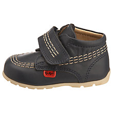Buy Kickers Kick Hi Strap Shoes, Navy Online at johnlewis.com