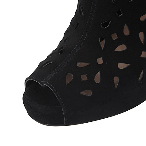 Buy Dune Dollie Laser Cut Out Shoe Boots, Black Online at johnlewis.com