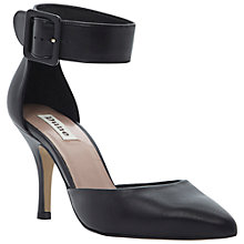 Buy Dune Doll Ankle Cuff Court Shoes, Black Online at johnlewis.com
