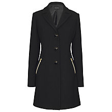 Buy James Lakeland Gold Zip Coat, Black Online at johnlewis.com