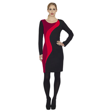 Buy James Lakeland Fabric Dress, Black/Red Online at johnlewis.com