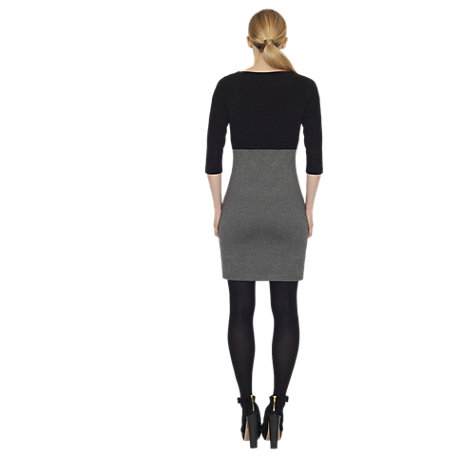 Buy James Lakeland Mix Zip Fabric Dress, Black/Grey Online at johnlewis.com