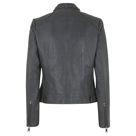 Buy Mint Velvet Leather Biker Jacket Online at johnlewis.com