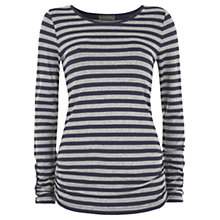 Buy Mint Velvet Stripe T-Shirt, Midnight/Grey Online at johnlewis.com