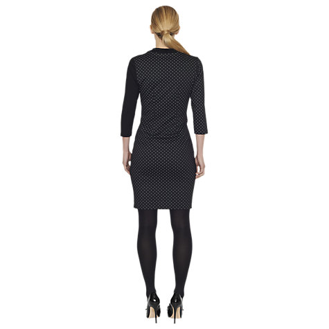 Buy James Lakeland Bow Dots Dress, Black/Grey Online at johnlewis.com